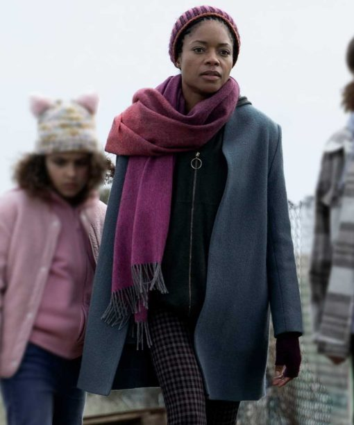 The Third Day Naomie Harris Grey Coat