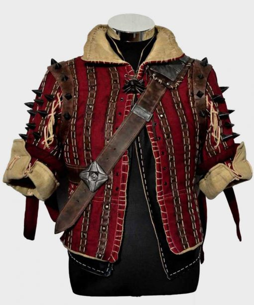 The Witcher 3 Eskel Red Jacket with Studs