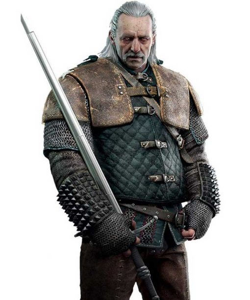The Witcher 3 Vesemir Quilted Leather Jacket