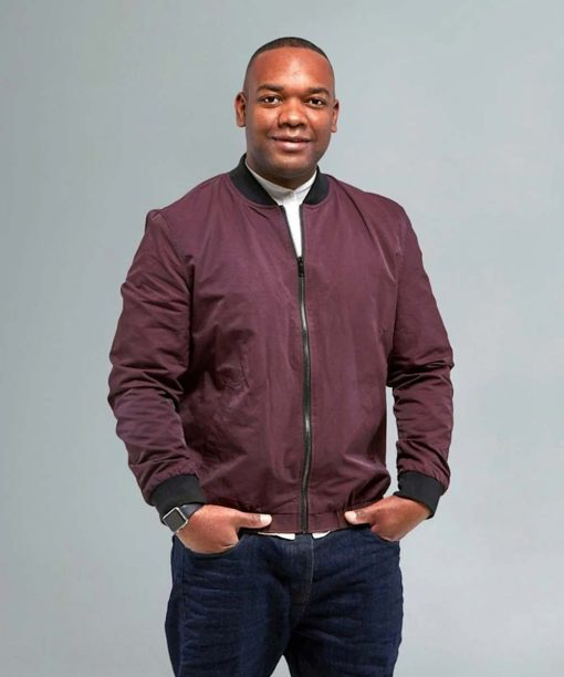 Top Gear Rory Reid Maroon Bomber Jacket