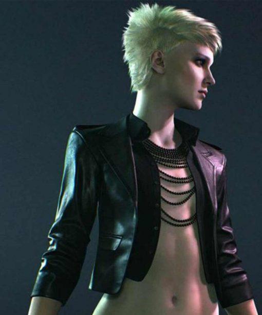 Toreador Black Cropped Leather Jacket