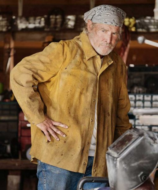 Yellowstone S03 Will Patton Brown Jacket