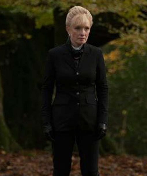 A Discovery Of Witches Lindsay Duncan Black Coat