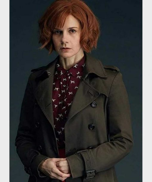 A Discovery of Witches Louise Brealey Grey Double-Breasted Coat