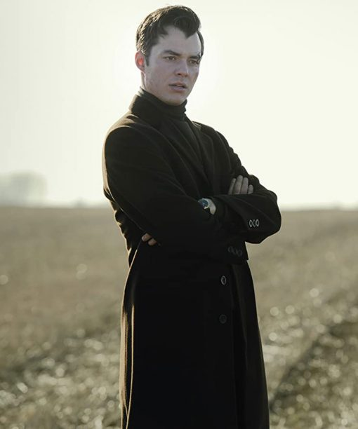 Jack Bannon Alfred Pennyworth Black Trench Coat