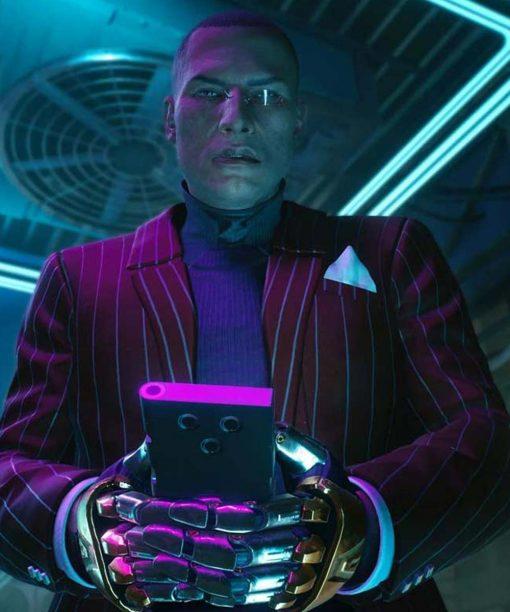 Cyberpunk 2077 Mr. Goldhand Red Striped Blazer