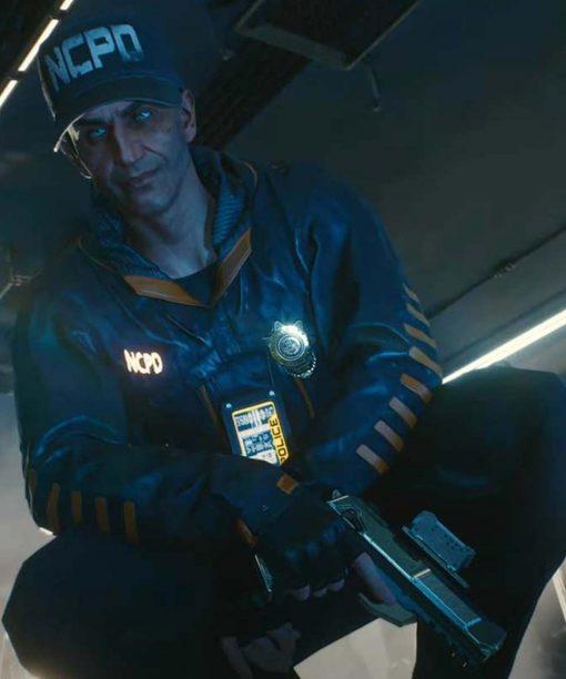 Cyberpunk 2077 Stints Leather Jacket with Hood