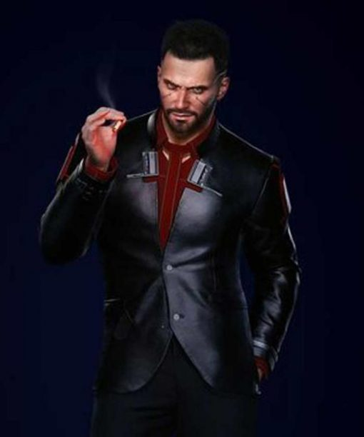 Cyberpunk 2077 V Male Black Blazer