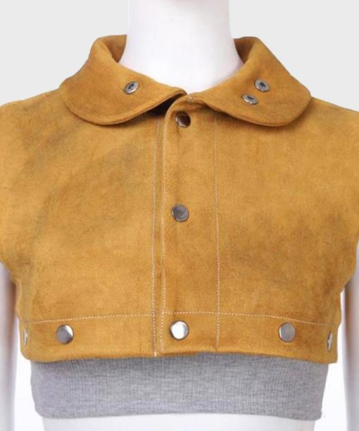 Devil May Cry 5 Nico Suede Leather Cropped Jacket