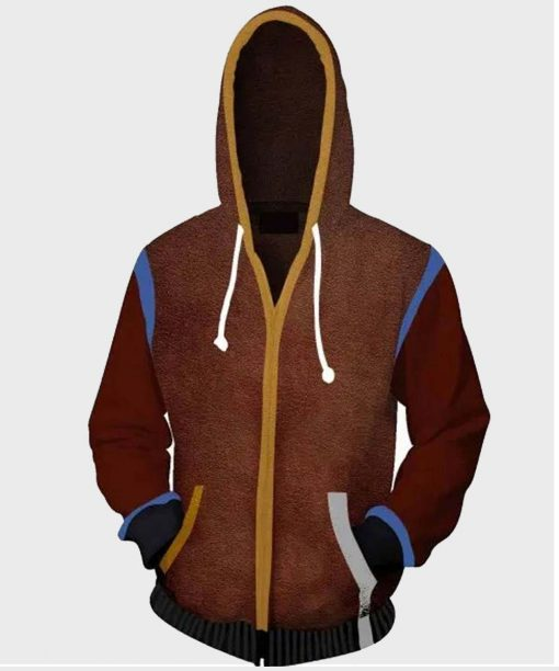 Dying Light 2 Aiden Caldwell Brown Hoodie with Studs
