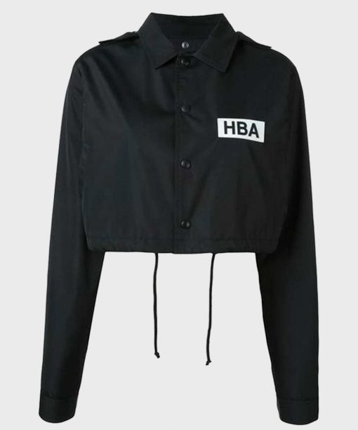 Emily In Paris Lily Collins HBA Logo Cropped Jacket