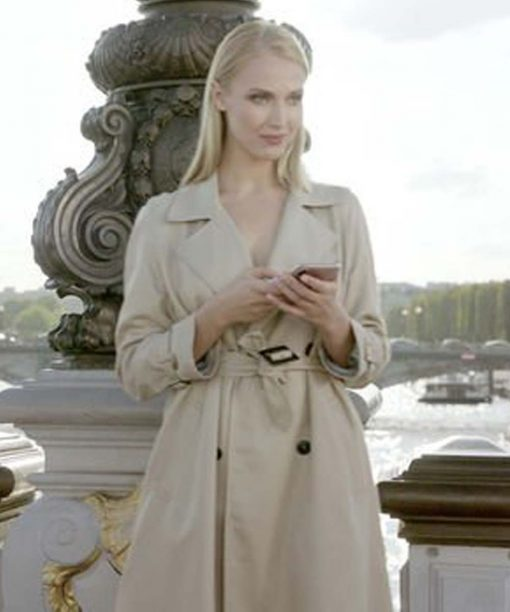 Emily in Paris Camille Cream Trench Coat