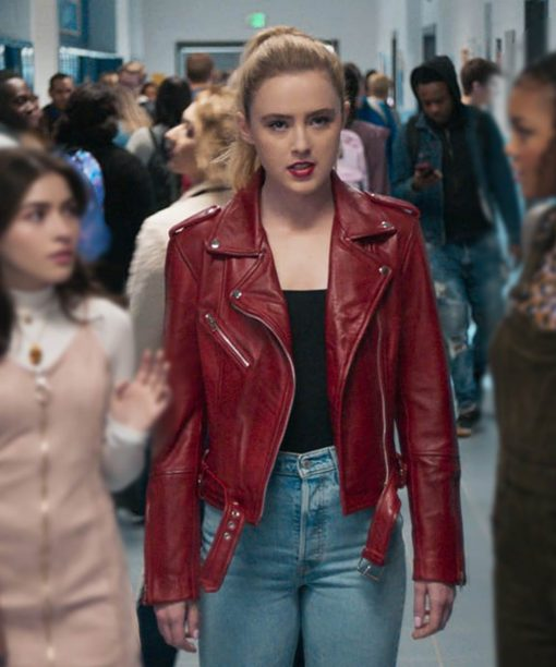 Freaky Millie Red Leather Jacket