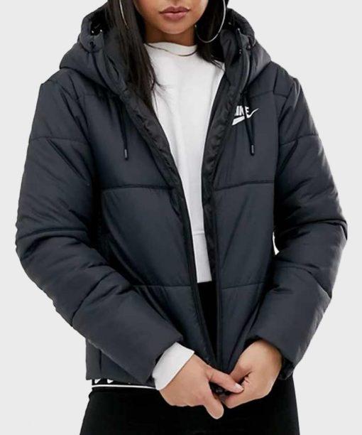 Grand Army Amalia Yoo Black Puffer Jacket with Hood