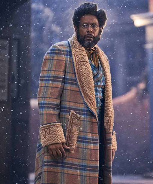 Forest Whitaker Shearling Plaid Trench Coat