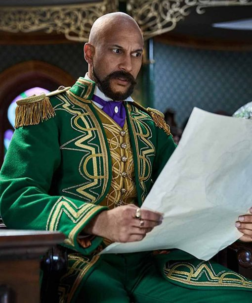 Jingle Jangle A Christmas Journey Keegan-Michael Key Green Trench Coat