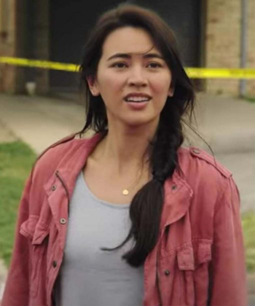 Love And Monsters Jessica Henwick Pink Jacket