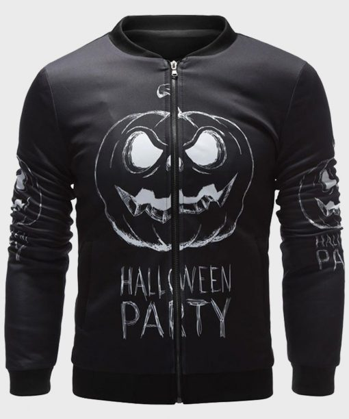 Halloween Party Black Bomber Jacket for Mens
