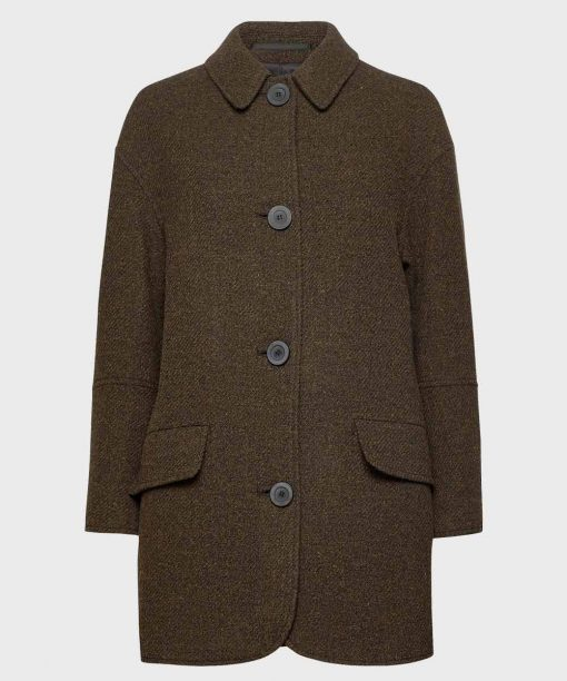Winter Brown Mens Wool Coat