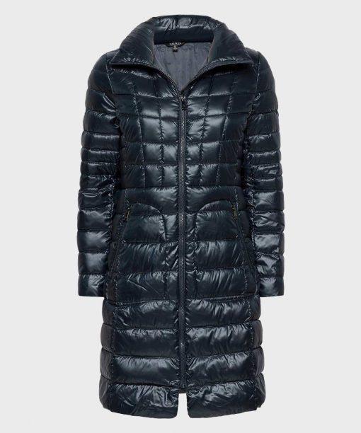 Dark Navy Winter Puffer Long Coat