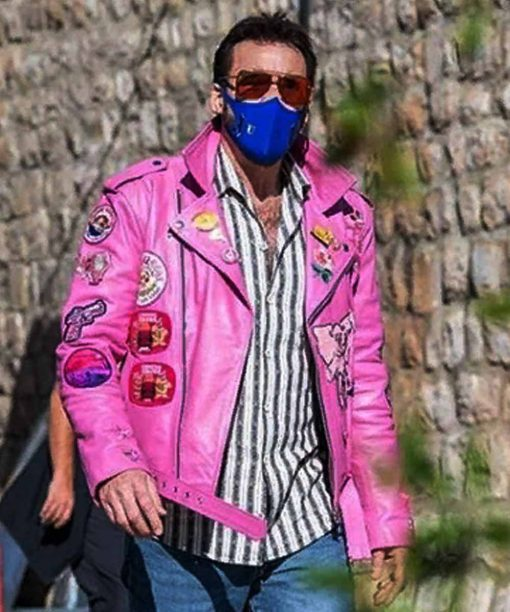 The Unbearable Weight of Massive TalentNic Cage Pink Leather Jacket