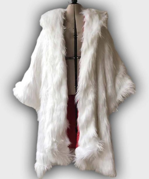 Cruella De Vil White Long Fur Coat