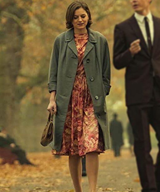 Pennyworth Emma Corrin Grey Coat
