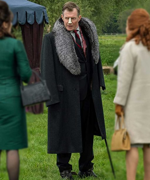Pennyworth Jason Flemyng Black Long Coat