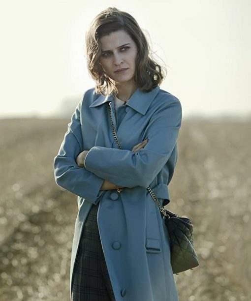 Pennyworth Emma Paetz Blue Trench Coat