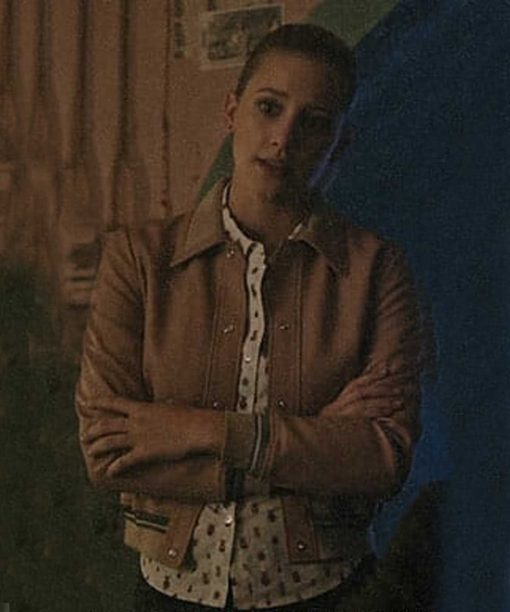 Riverdale Betty Cooper Brown Bomber Leather Jacket