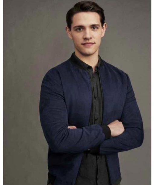 Riverdale S02 Casey Cott Blue Bomber Jacket