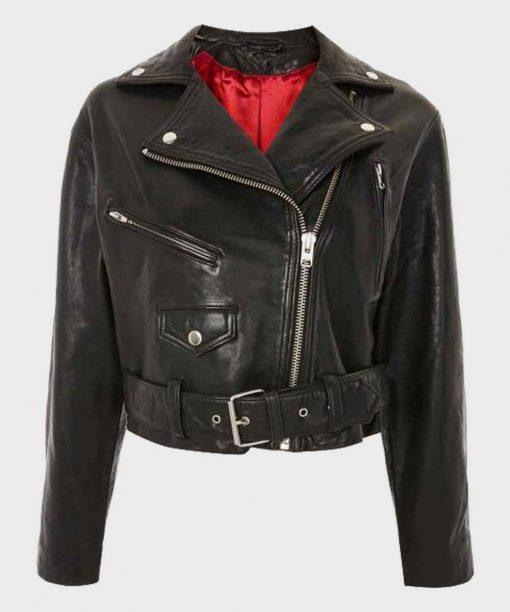 Riverdale S03 Alice Cooper Black Leather Jacket