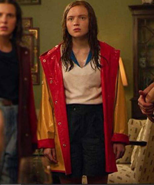 Stranger Things Sadie Sink Yellow & Red Jacket