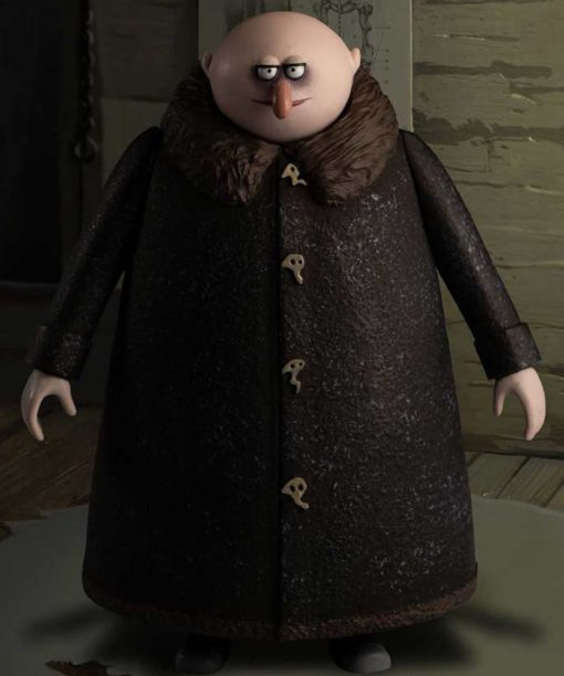 The Addams Family 2 Uncle Fester Coat with Shearling Collar