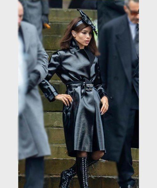 Zoë Kravitz The Batman 2022 Leather Coat