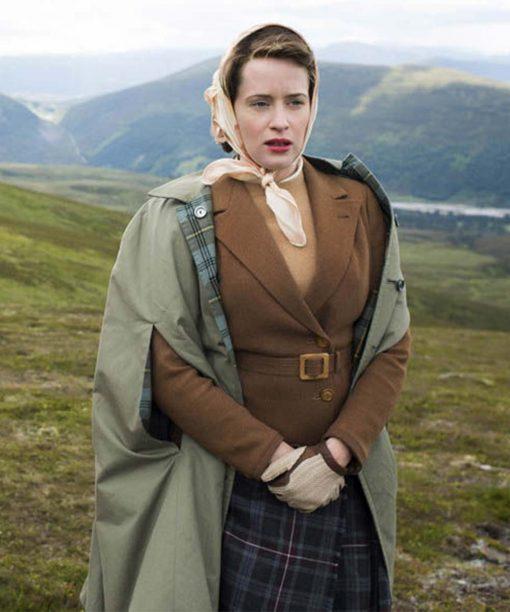 The Crown Queen Elizabeth II Brown Jacket
