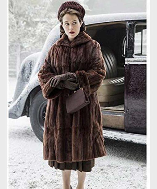 The Crown Queen Elizabeth II Brown Shearling Coat