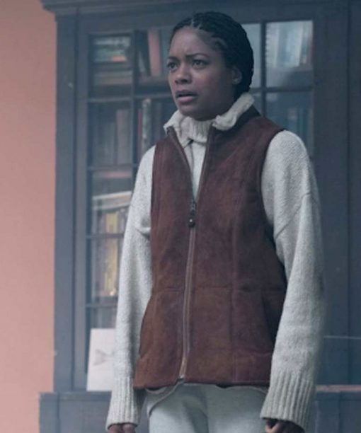 The Third Day Naomie Harris Suede Leather Vest