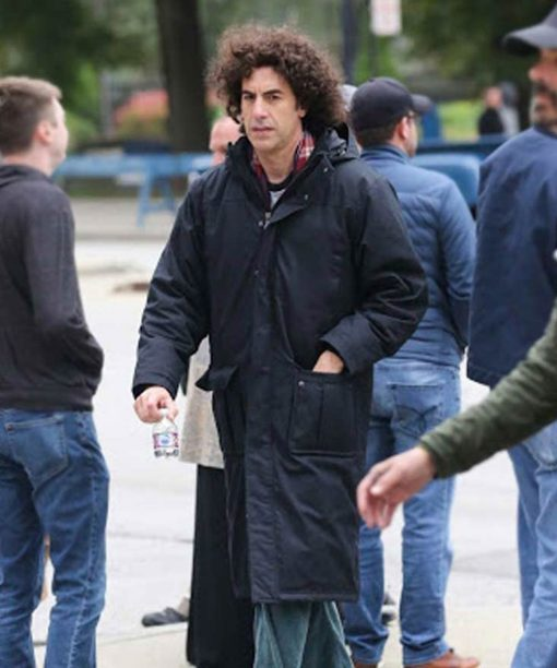 The Trial Of The Chicago 7 Sacha Baron Cohen Black Coat