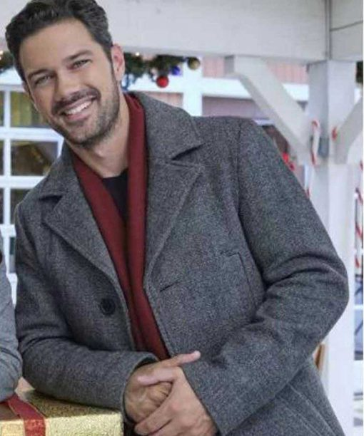 Ryan Paevey A Timeless Christmas Grey Coat