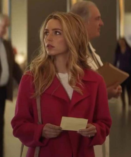 All My Life Jessica Rothe Pink Wool-Blend Trench Coat