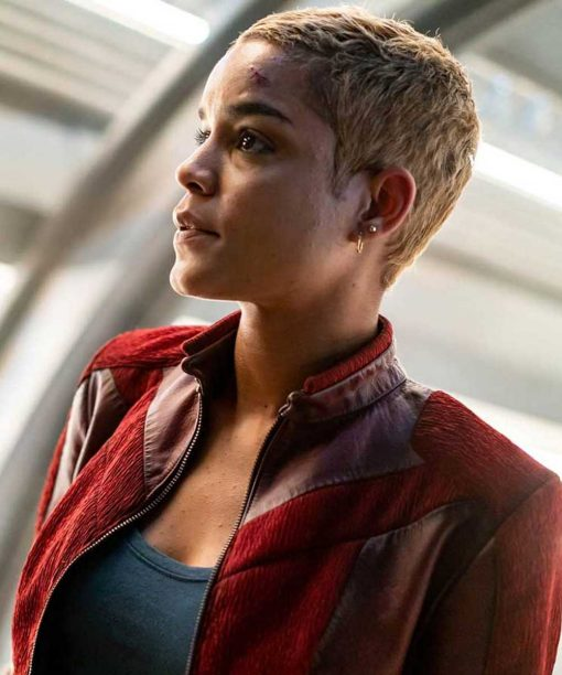 Another Life S02 Elizabeth Faith Ludlow Red Leather Jacket