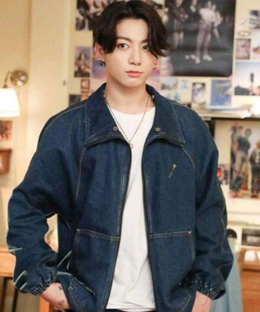 BTS Dynamite Blue Denim Jacket