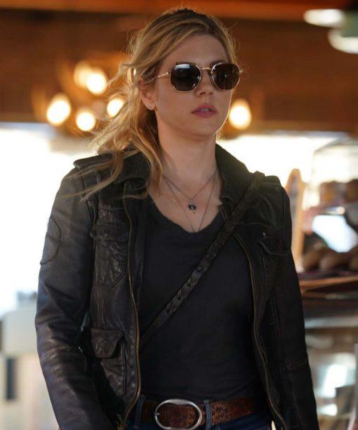 Katheryn Winnick Big Sky Black Leather Jacket