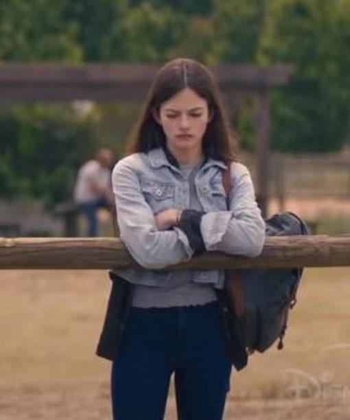 Mackenzie Foy Black Beauty Blue Denim Jacket