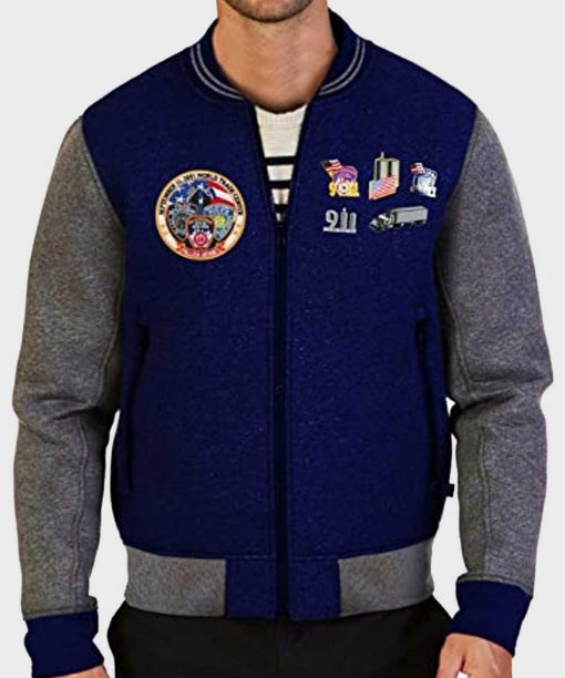 Bobo Howard Stern Show 911 Blue Baseball Jacket