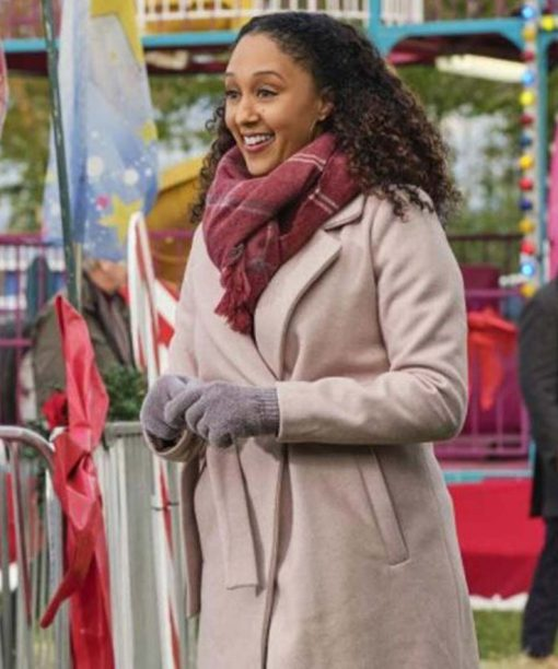 Tamera Mowry-Housley Christmas Comes Twice Trench Coat