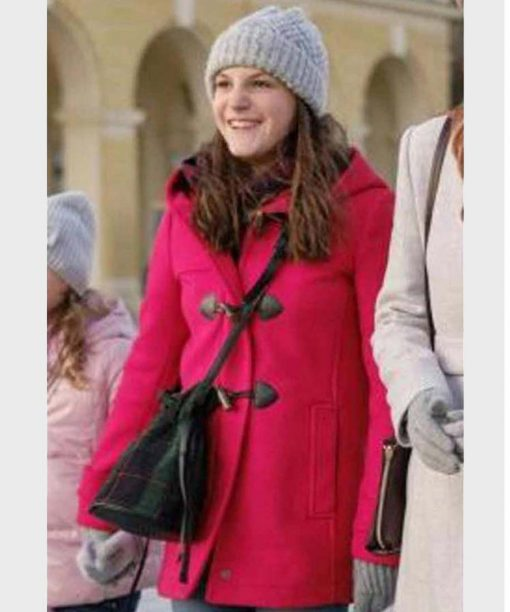 Christmas In Vienna Allegra Tinnefeld Pink Hooded Coat
