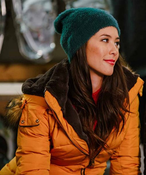 Christmas With A View Kaitlyn Leeb Yellow Puffer Jacket