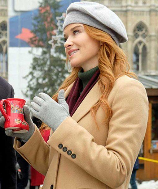 Sarah Drew Christmas in Vienna Beige Coat
